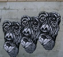 Three Monkey's by Stuart Steele