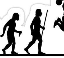 Evolution of Man to Basketball Slam Dunk Sticker