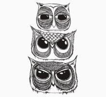 Stack of Owls by annieclayton