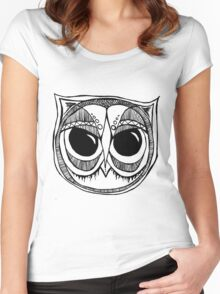 Giant eyes Owl 4 Women's Fitted Scoop T-Shirt