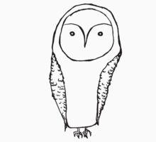 Simple Owl Kids Tee
