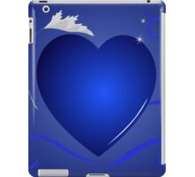 blue heart background iPad Case/Skin