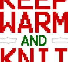 Keep Warm and Knit for Xmas Sticker