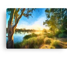 River Swirl (GO) Canvas Print