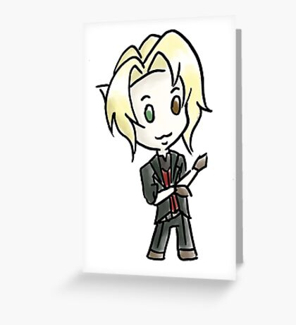 Tony Chibi Greeting Card