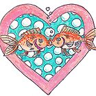 Goldfish In Love by David Webb