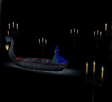 Christine in phantom's boat alone 2 by Godofmischief