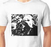 Dog Love Graphic ~ black and white Unisex T-Shirt