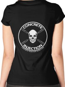 concrete injection skull logo Women's Fitted Scoop T-Shirt