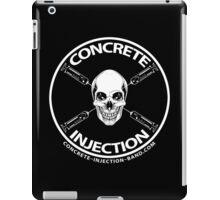 concrete injection skull logo iPad Case/Skin