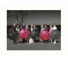 selective colouring - wedding Art Print