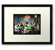 PUGS PLAYING POKER Framed Print