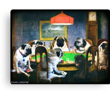 PUGS PLAYING POKER Canvas Print