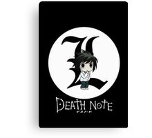 L | DEATH NOTE Canvas Print