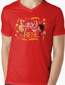 Real Or Not Real Mens V-Neck T-Shirt