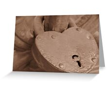Love Locked on Palace Bridge Greeting Card