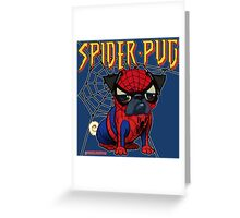 SPIDERPUG Greeting Card