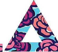 Adpi Letters in Floral by emilystp23