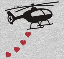 Army Helicopter Bombing Love One Piece - Long Sleeve