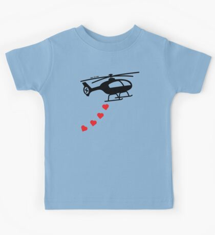 Army Helicopter Bombing Love Kids Tee