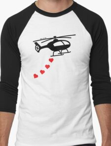 Army Helicopter Bombing Love Men's Baseball ¾ T-Shirt