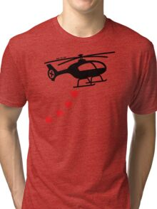 Army Helicopter Bombing Love Tri-blend T-Shirt