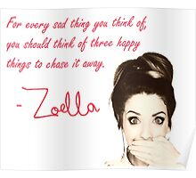 HAPPY THINGS quote ZOELLA Poster
