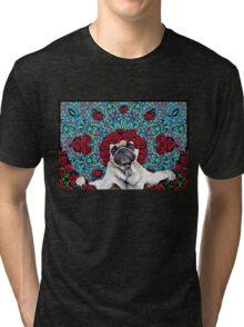 GRATEFUL PUG Tri-blend T-Shirt