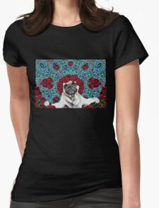 GRATEFUL PUG Womens Fitted T-Shirt
