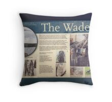 The Wader info Throw Pillow