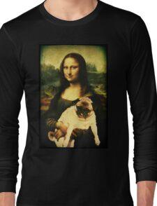 MONA LISA PUG Long Sleeve T-Shirt