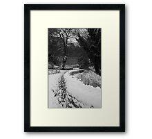 A Winter Yorkshire Wonderland Framed Print