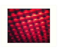 Abstract Color Pattern in Red Art Print