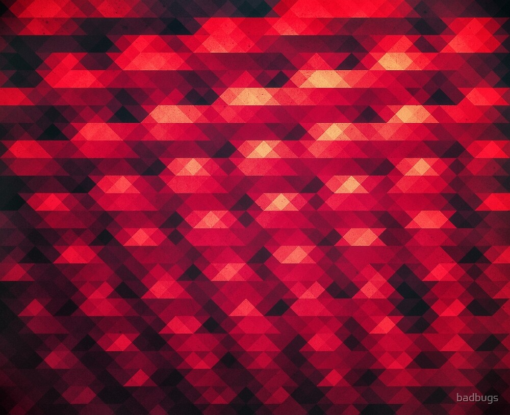 Abstract Color Pattern in Red by badbugs