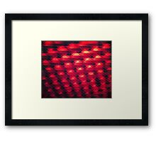 Abstract Color Pattern in Red Framed Print