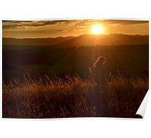 Twirling at Sunset Poster