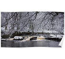Hebden Water in snow Poster