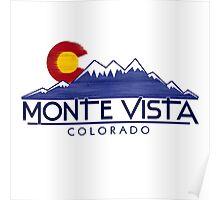Monte Vista Colorado wood mountains Poster