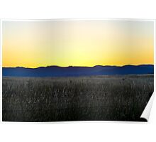 landscape at sunset Poster