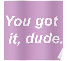 You got it, dude.  Poster