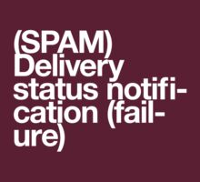 (Spam) Delivery status! (White type) by poprock
