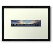 Sky and Snow Scene in the Hills of Llanfyllin, Powys Framed Print