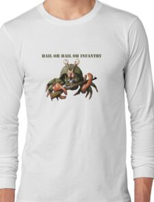 Crab infantryman ready for combat action Long Sleeve T-Shirt