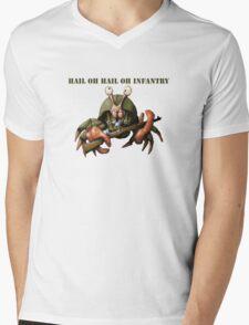 Crab infantryman ready for combat action Mens V-Neck T-Shirt