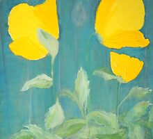 Welsh poppies by Jacqueline Eirian McKay