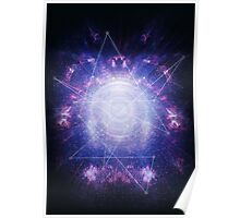 Abstract colossal space Sign! Poster