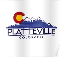 Platteville Colorado wood mountains Poster