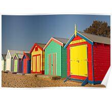 Brighton Bathing Boxes Poster
