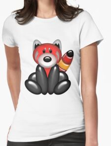 Red Panda Balloon Animal Womens Fitted T-Shirt
