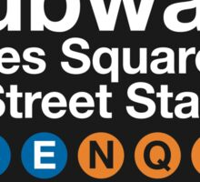 NYC Subway Sign Sticker